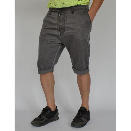 Men's shorts Grey oil dye