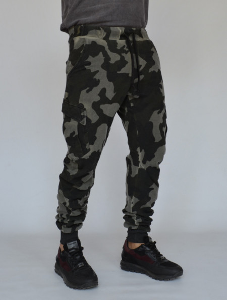 MENS CARGO SWEAT PANTS TAPERED FIT FALL/WINTER WARM
