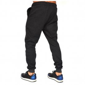 DARK GREY MENS SLIM SWEAT PANTS WARM FALL WINTER