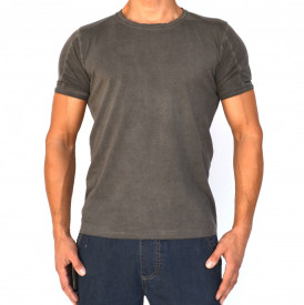 GREY OIL DYE MENS TSHIRT
