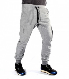 Mens Cargo Tapered Sweat Pants WARM FALL/WINTER