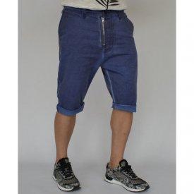 Men's shorts Navy Blue oil dye