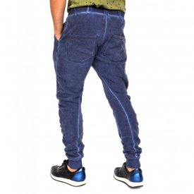 BLAU OIL DYE HERREN JOGGINGHOSE TAPERED SLIM FIT HERBST/WINTER