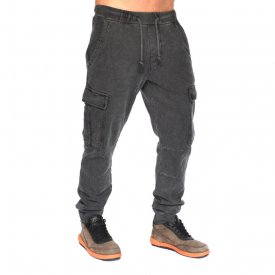 GREY OIL DYE CARGO MENS CLASSIC SWEAT PANTS FALL/WINTER WARM