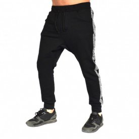 Men's Black joggers drop crotch sweat pants FALL/SPRING