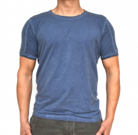 BLUE OIL DYE MENS TSHIRT
