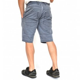 Men's shorts Blue oil dye