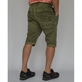 Men's shorts Khaki oil dye