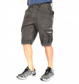 MENS CARGO SHORTS GREY OIL DYE