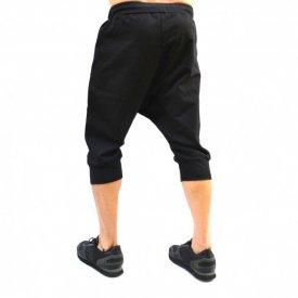 Men's Black drop crotch shorts