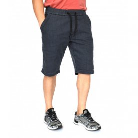 Men's grey denim shorts