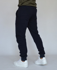 DARK BLUE TAPERED SLIM SWEATPANTS SLIM FALL/SUMMER