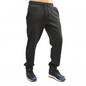 DARK GREY MELANGE MENS CLASSIC SWEAT PANTS WARM FALL WINTER
