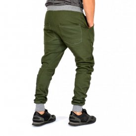 KHAKI HERREN JOGGINGHOSE TAPERED SLIM FIT HERBST/WINTER