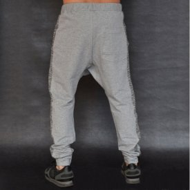 Men's Light grey joggers drop crotch sweat pants FALL/SPRING