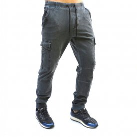 GREY/BLUE OIL DYE CARGO MENS CLASSIC SWEAT PANTS FALL/SPRING