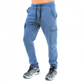 BLUE DENIM CARGO MENS CLASSIC SWEAT PANTS FALL/SPRING