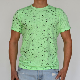 FLOUR GREEN OIL DYE MENS TSHIRT