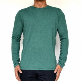 GREEN MENS TSHIRT LONG SLEEVE