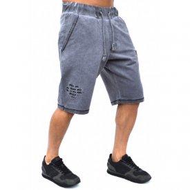 Herren Jogginghose Shorts mit Wascheffekt Rugby Style