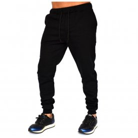 BLACK MENS SLIM SWEAT PANTS WARM FALL WINTER