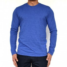 BLUE MENS TSHIRT LONG SLEEVE