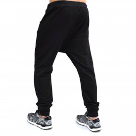 Men's Black joggers drop crotch sweat pants SPRING/SUMMER