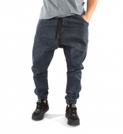 MEN'S GREY DENIM DROP CROTCH PANTS SPRING/FALL