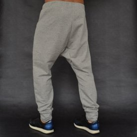 Men's grey joggers drop crotch sweat pants WARM FALL/WINTER