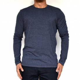 DARK BLUE MENS TSHIRT LONG SLEEVE