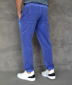 MENS BLUE OIL DYE SWEATPANTS SPRING/SUMMER