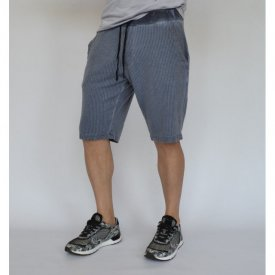 MENS CLASSIC SWEAT SHORTS SUMMER BLUE OIL DYE