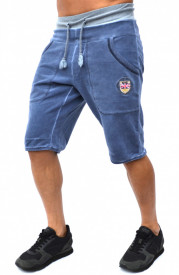 BLUE OIL DYE MENS SWEAT SHORTS