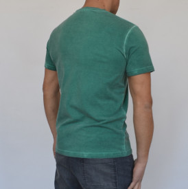 GREEN OIL DYE MENS TSHIRT