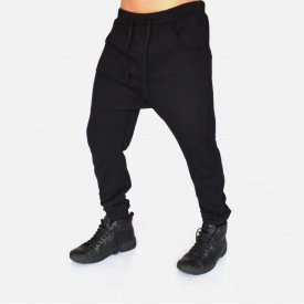 Men's Black joggers drop crotch sweat pants SPRING/FALL