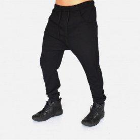 Men's Black joggers drop crotch sweatpants SPRING/FALL