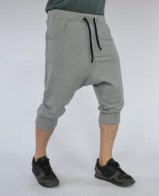 Men's Light Grey drop crotch shorts