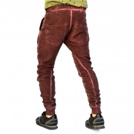 PURPLE OIL DYE Sweat Pants TAPERED SLIM FIT FALL/WINTER WARM