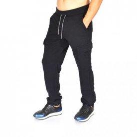 BLACK CARGO MENS CLASSIC SWEAT PANTS FALL/WINTER WARM