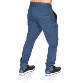 Men's blue denim joggers sweat pants FALL/WINTER WARM