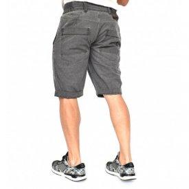 Men's Grey striped shorts oil dye