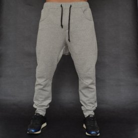 Men's Light grey joggers drop crotch sweat pants SPRING/SUMMER