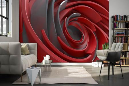 Fototapet 3D, Liniile abstracte bordo
