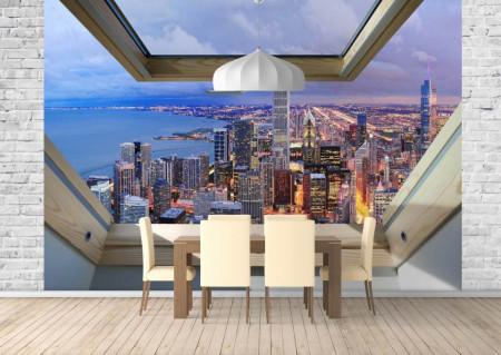 Fototapet, O fereastră cu Priveliște la New York
