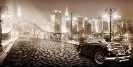 Fototapet Orase, Orașul în ceață