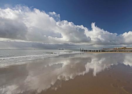 Fototapete, Cer înorat și marea