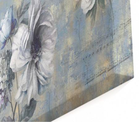 Multicanvas, Flori albastre abstracte.