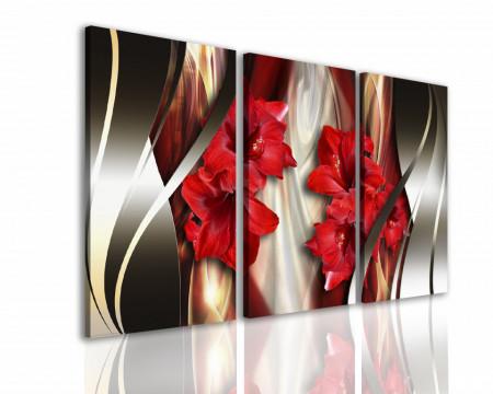 Multicanvas, Flori rosii.