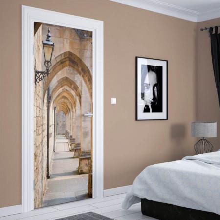 Stickerele decorative, pentru uși, Holul cu arcade, 1 foaie de 80 x 200 cm