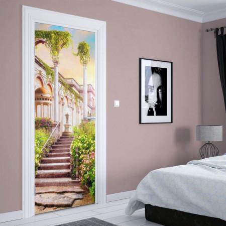 Stickerele decorative, pentru uși, În curtea castelului , 1 foaie de 80 x 200 cm